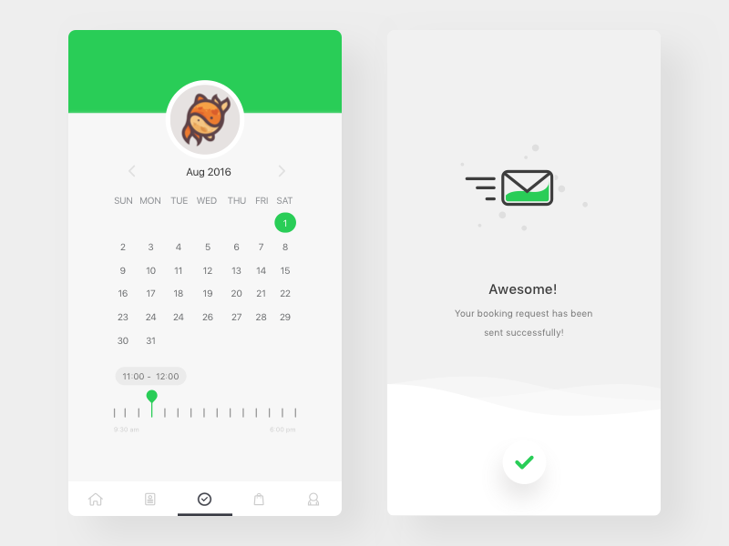 TailsLife: Booking Confirmation booking advanced search tailslife ui app interface ux icon pet sketch