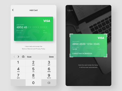 TailsLife: Add/Scan Card sketch pet icon ux interface app ui tailslife add scan payment