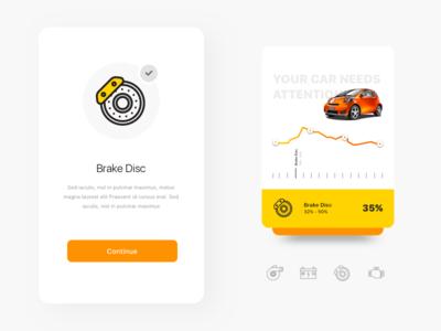 Car Care: Brake Disc automobile clean graph interface landing lifestyle minimal modern sport ui ux web