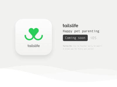tailslife iOs  ios10 icon app ios pet tailslife