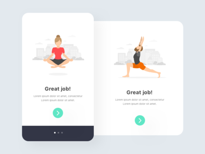 Play 4.0 welcome screen card clean heroimage minimal poster yoga sports talent view