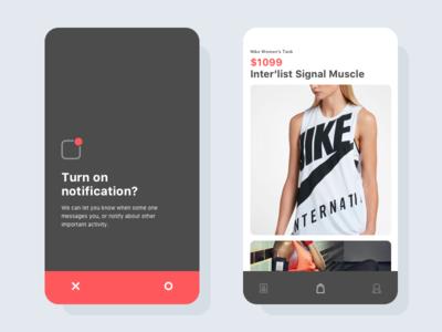 Notifcation concept nike sketch product ios10 uiux ux ui notification