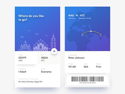 eTicket Freebies psd ios travelling modern minimal eticket booking ticket flight sketch freebies illustration
