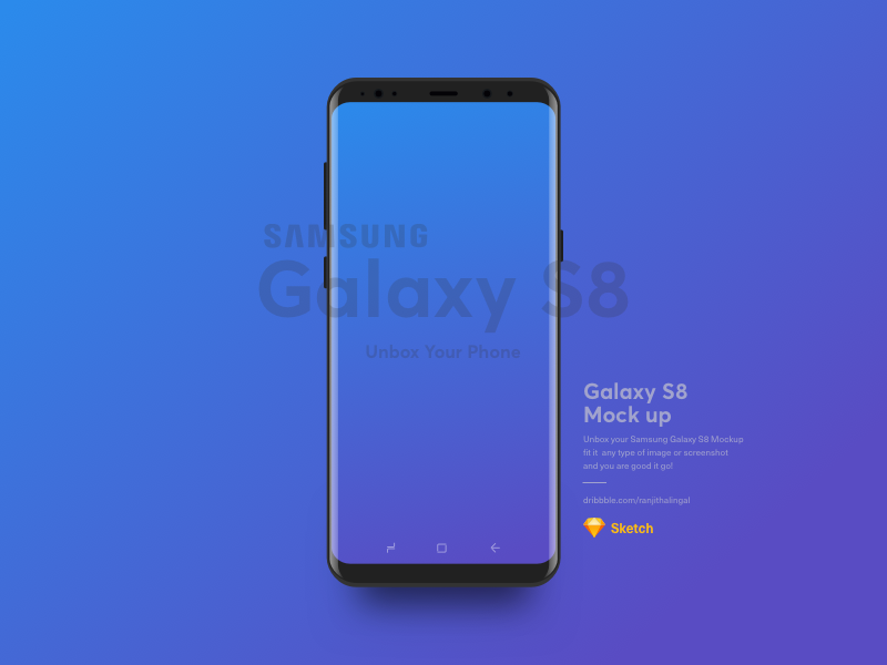 Download Samsung S8 Mockup Free Sketch