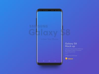 Samsung S8 Mockup Free Sketch