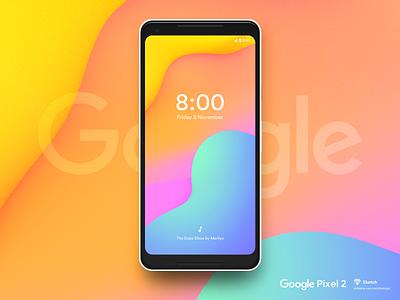 Google Pixel 2 pixel smartphone sketch psd mockup googlepixel freepsd freebie free download google