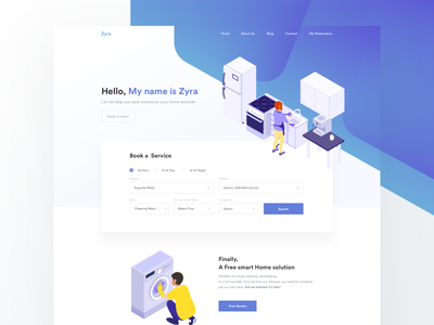 Zyra Version 2.0 l Landing Page homepage icon icons illustrations landing page process website layout mobile payment responsive web