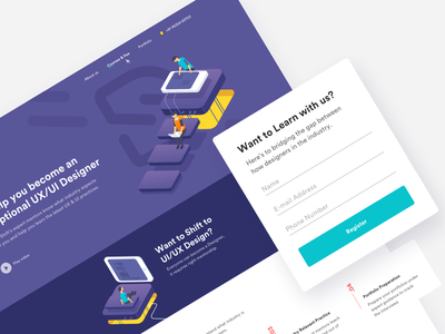 Designshift designshift homepage icon illustrations landing layout mobile page process responsive web website