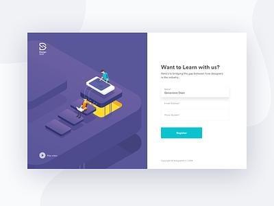 Split Fold website web responsive process page mobile layout landing illustrations icon homepage designshift