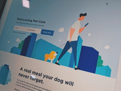 Petcare.co landingpage petcare website banner responsive web website