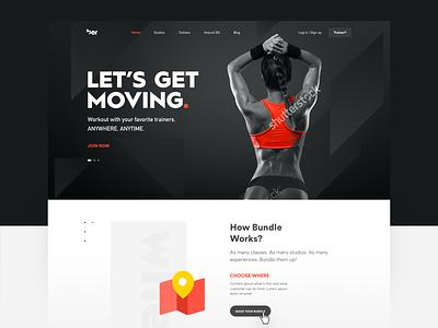 Let's Get Moving modern layout design interface minimal website web icon ui sketch