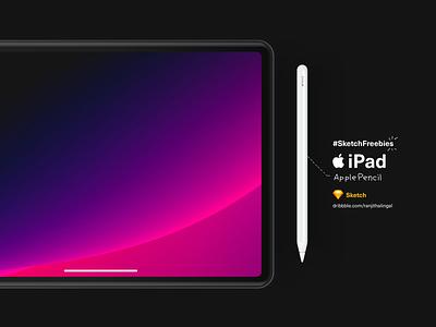 iPad l Pencil Freebies apple devices mockups sketch freebies 2018 apple pencil ipad pro black apple