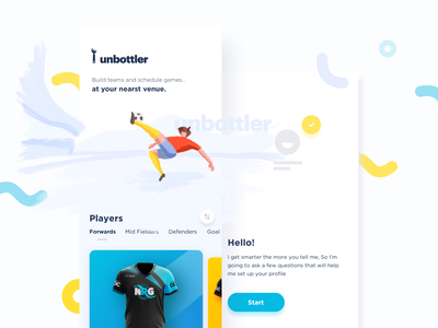 Unbottler ios ux ui app illustration game sports sketch mobile app unbottler