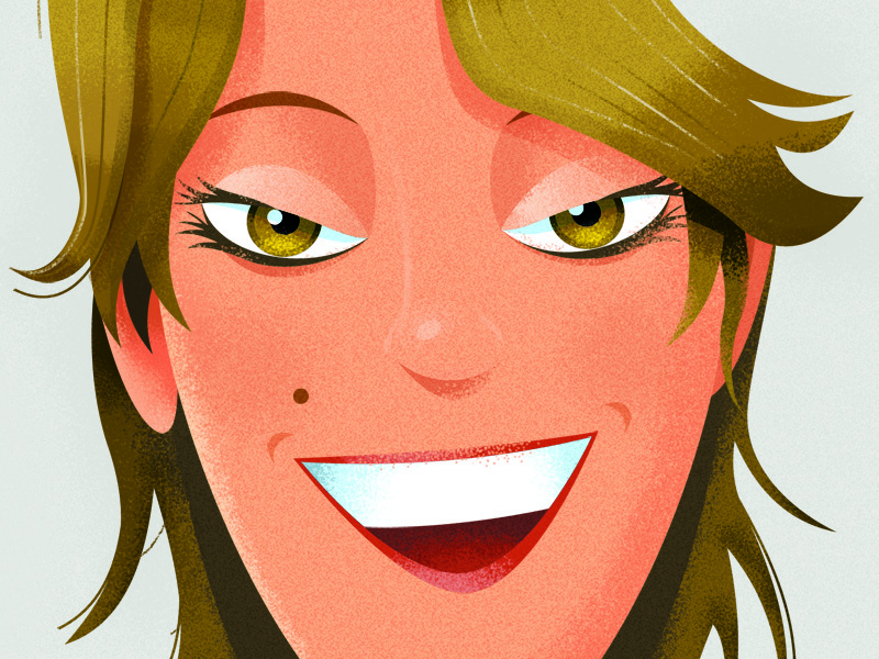 Smiling at you. illustrator photoshop vector texture face smile
