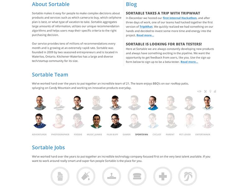 Sortable Redesign Future redesign website sortable ui minimal brand portfolio