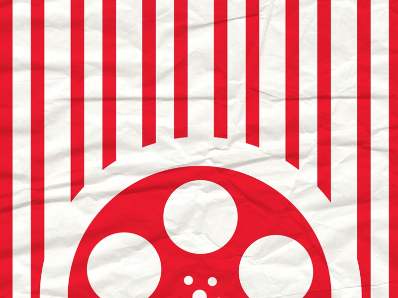 Popcorn Bag print red movies texture bag popcorn