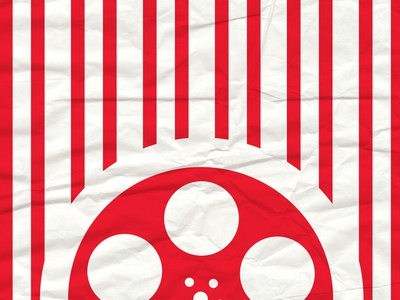 Popcorn Bag print red movies texture bag popcorn