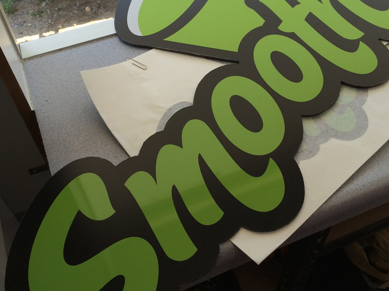 Smootheees logo signage green brand