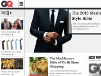 GQ Homepage Redesign