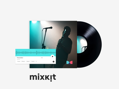 Mixkit Music website music player designer free music design