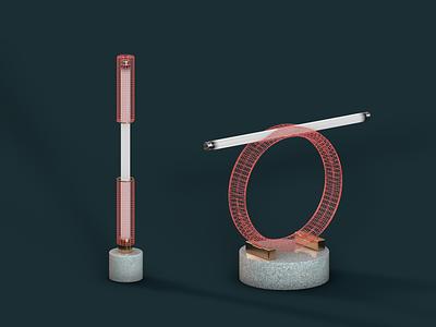 Mesh lamp concept architecture c4d cinema4d design lamp