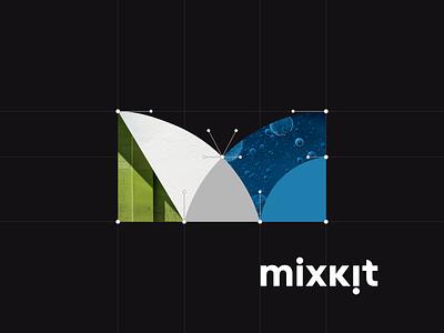 Mixkit Brand Exploration design vector typography identity design logo branding design branding and identity branding mixkit