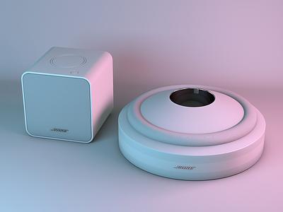 3D Bose Speaker Mockup mockup render speaker bose