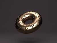 3D Gold Donut - modelled & rendered in C4D