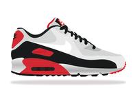 Nike Air Max vector illustration