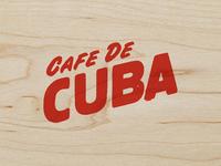 Cafe de Cuba - Cafe Logo