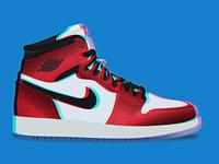 "Air Jordan 1 ""Origin Story"" illustration"