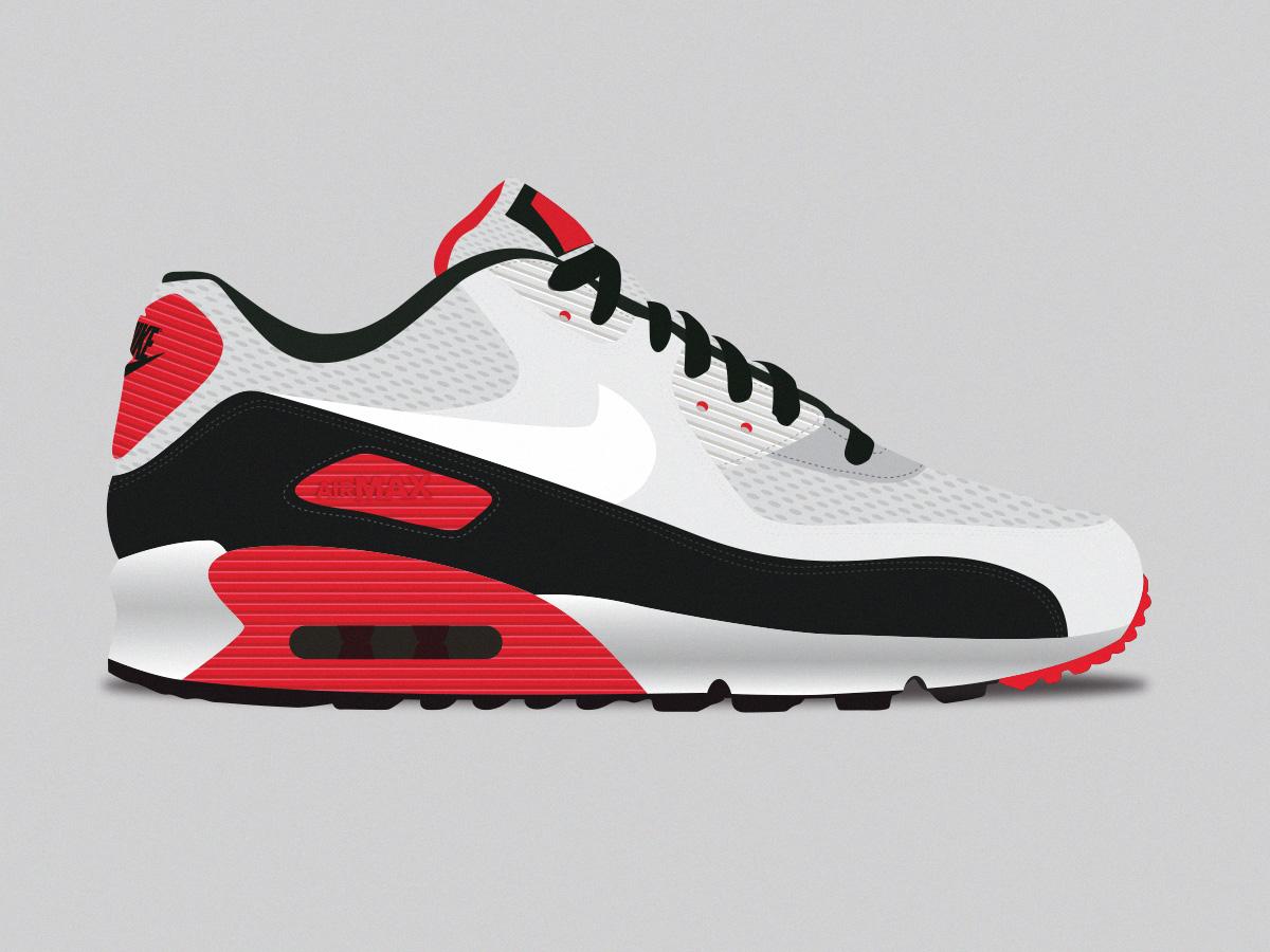 the latest e7764 17a1e Nike Air Max 90 nike sneakerhead kicks sneakers vector illustration sneaker