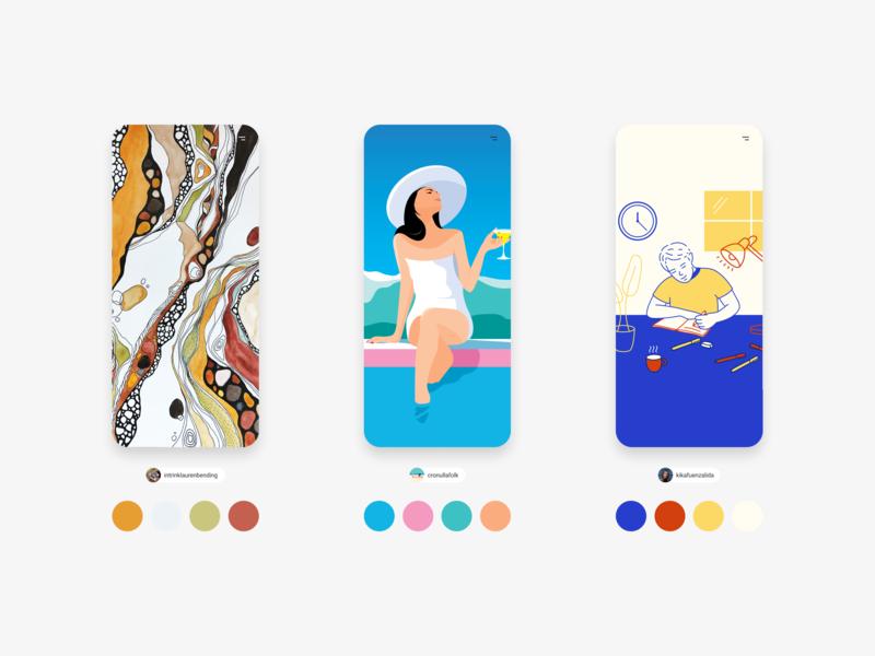 Mixkit Artwork - download & use free art direction colour mockup design mockup illustration art mixkit