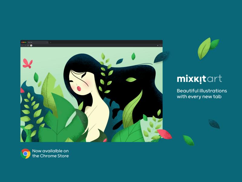 Mixkit Art Chrome Plugin illustration freebie free art chrome