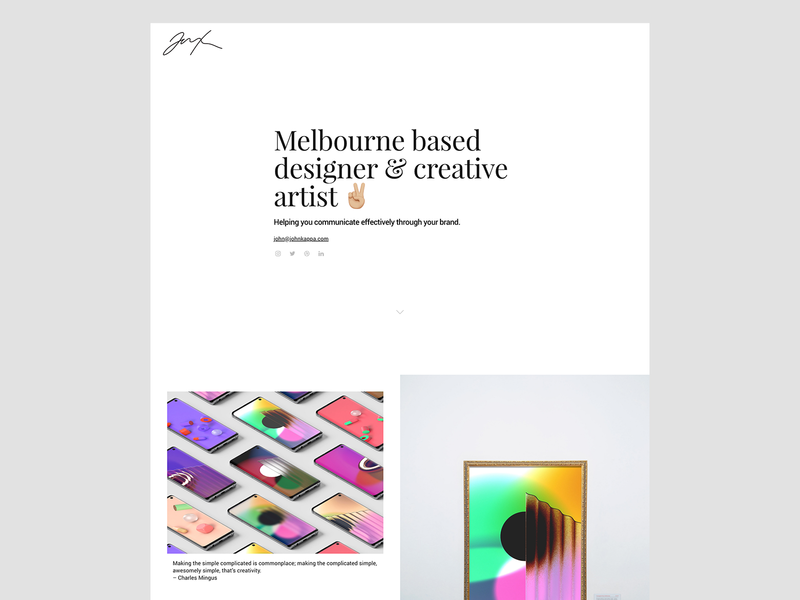 Quick personal website refresh for 2020 type design landing page homepage website design design website