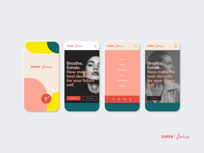 Super Fierce  - Responsive Design Mockups ui  ux design branding brand mobile ui mobile responsive design responsive