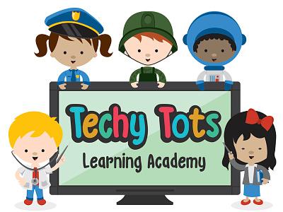 Techy Tots Logo children daycare logo