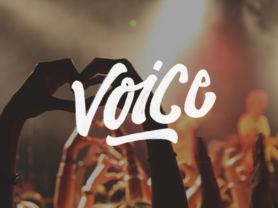 Voice with Lettering