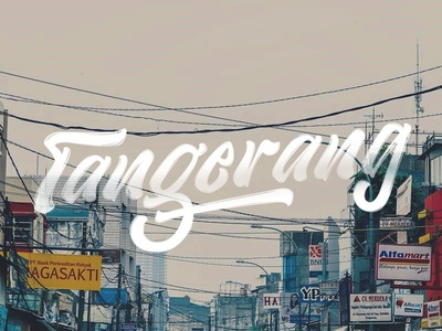 Tangerang with Lettering