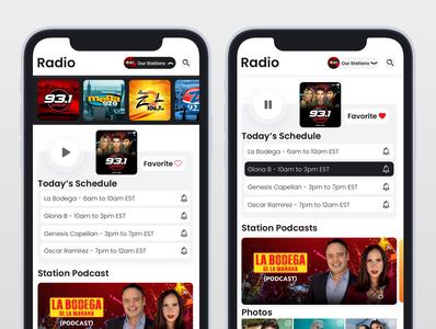 LaMusica App Radio Section Redesign