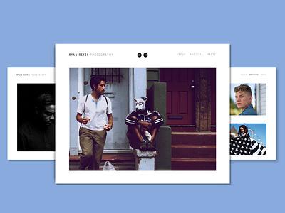 Ryan Reyes Photography sketch design photography branding website concept photography