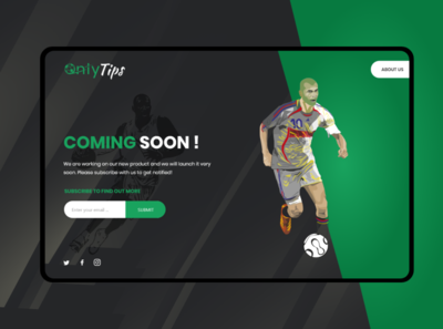 Sports coming soon UI/UX coming soon template coming soon banner website design ux landing page ui design