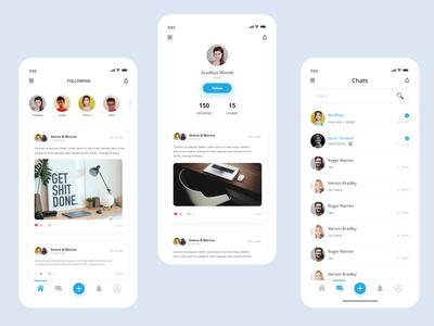 Social media UI UX