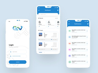 Cargo Transportation App Design