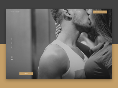 Dating Site Website Design Mockup