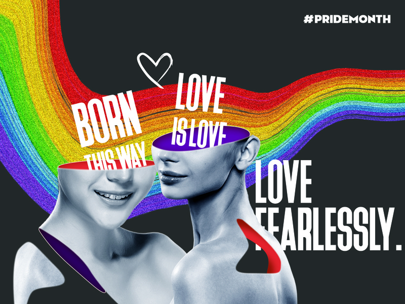 Pride Month rainbow bisexual gay lesbian pride month pride web advertising illustration illustrator branding vector typography design editing photoshop