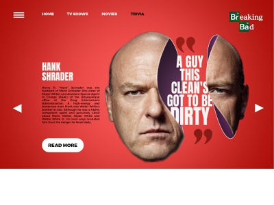 A Breaking Bad Website Concept tv series breaking bad website drugs advertising breakingbad typography editing illustration branding photoshop