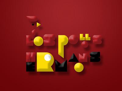 LOS POLLOS HERMANOS LOGO 3D retro spicy red chicken restaurant web illustration advertising illustrator vector branding design typography editing photoshop