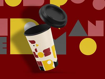 LOS POLLOS HERMANOS CUP DESIGN brand identity flat logo web advertising illustrator branding design typography editing photoshop brand