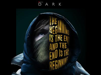 DARK NETFLIX logo advertising branding illustration editing netflix and chill photography photoshop posterart tv series jonas typography quote german dark